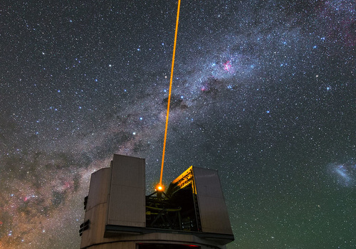 Large observatory with a laser guide star