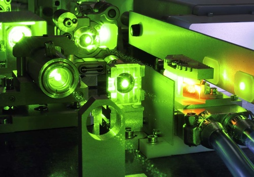 High power laser image representing Phasics laser beam measurement and control application