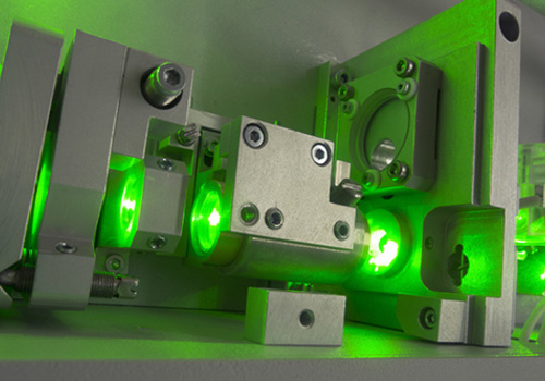 Industrial green laser
