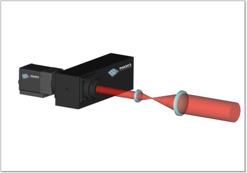 3d image of a laser system alignment  with SID4-HR